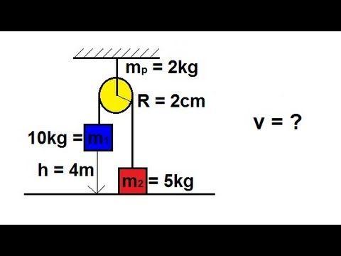 Physics - Mechanics: Application of Moment of Inertia and Angular Acceleration (2 of 2) - YouTube