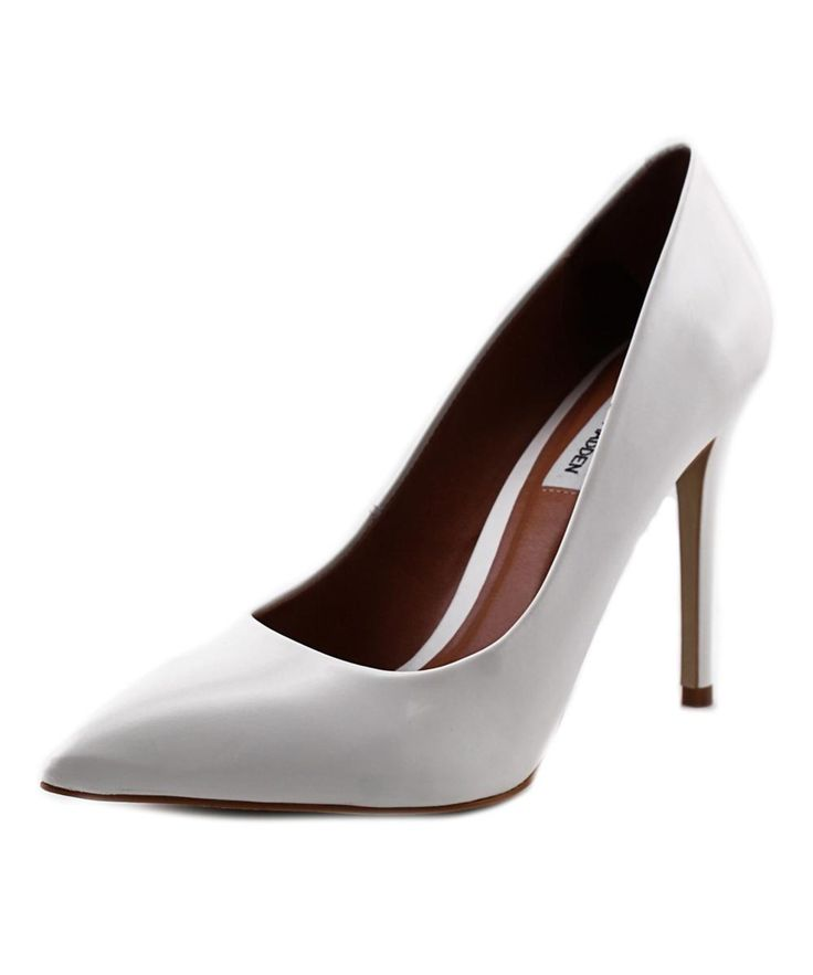 STEVE MADDEN Steve Madden Protoo Women  Pointed Toe Leather White Heels'. #stevemadden #shoes #pumps & high heels