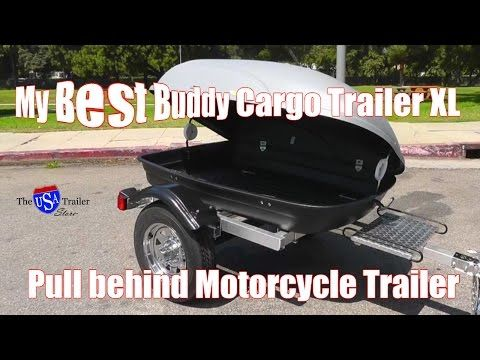 Motorcycle Pull Behind Trailer - My Best Buddy Cargo Trailer XL | We created My Best Buddy Motorcycle Cargo Trailer XL because we know that getting away to spend time with family and friends is priceless. But, we believe that getting there shouldn't be! Be sure to watch to this video to the end to find out about the FREE STUFF!  http://theusatrailerstore.com/my-best-buddy-motorcycle-cargo-trailer-xl/