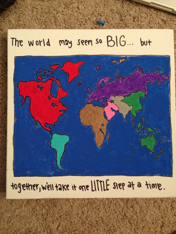 #big #little #craft for my big and our love for #wanderlust, we put a pin everywhere we travel together