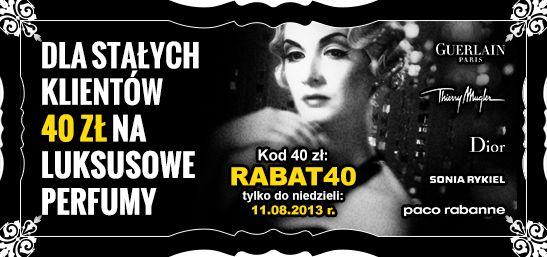 Aż 40zł taniej na luksusowe zapachy! kod:rabat40 http://www.kokai.pl/rabat40