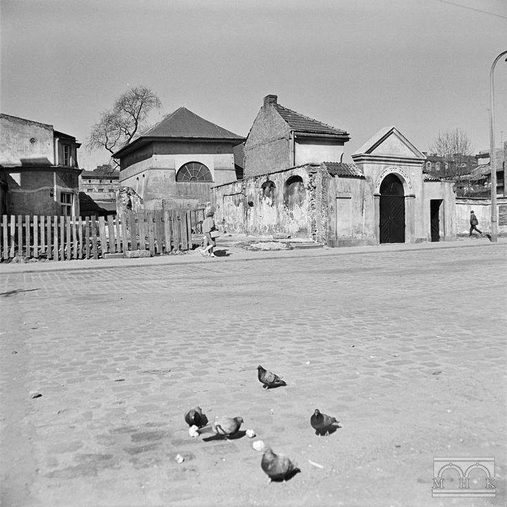 Synagoga Remuh, ulica Szeroka, Lata 60. XX w., wł. MHK.