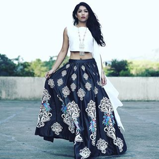 Dress down an old lehenga with a basic crop top. | 14 Mind-Blowing Diwali Outfit Ideas For Every Lazy Girl