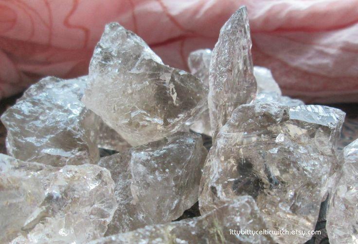 Medium Raw Smoky Quartz Crystal, Raw Crystals, Raw Stones, Raw Gemstones, Rough Smoky Quartz, Reiki Stones, Healing Crystals and Stones by IttyBittyCelticWitch on Etsy