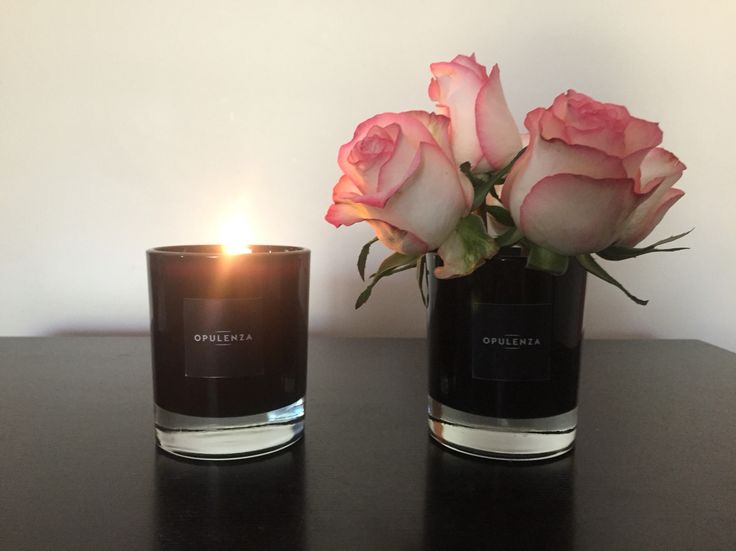 Gorgeous frangipani scented candle in black glass, available from www.opulenza.com.au