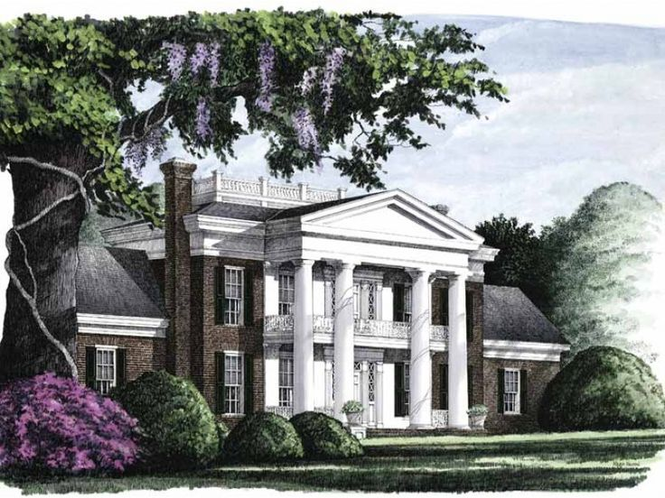 The Stunning Columns Are A Hallmark Of NeoClassical Design. Plan HWEPL08585  Is More Than Just