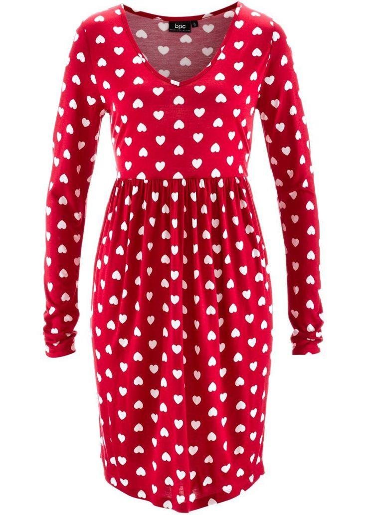 Idei Cadouri de #Craciun - rochie tricotata rosie cu inimioare