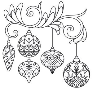 Delicate December - Ornaments design (UTH7259) from UrbanThreads.com