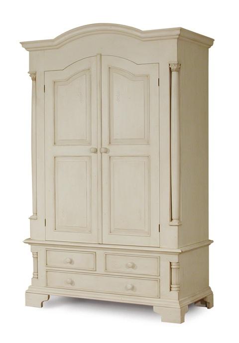 TV Armoire idea for Adam | Antique white furniture ...