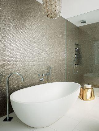 Sicis Glass mosaic - Contemporary Bathroom by MR Architecture + Decor via @Architectural Doodle Digest #designfile