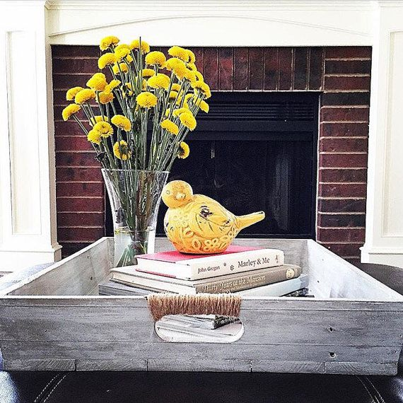 Handcrafted Wooden Tray  Wooden Ottoman Tray With by CleverGoose