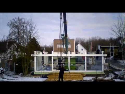 Aufbau HUF Haus ART 4 Zeitraffer - YouTube