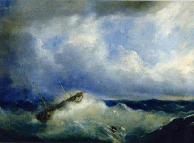 """A Ship in a Storm I"", by Raden Saleh Syarif Bustaman (ca. 1811-1880)."