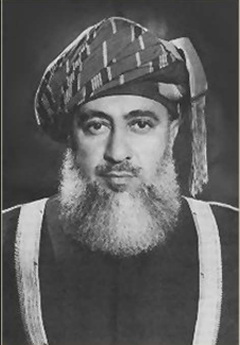 Said bin Taimur was the sultan of Muscat and Oman from 10 February 1932 until his overthrow on 23 July 1970.  As sultan, oil wealth would have allowed Sultan Said bin Taimur to modernize his country, and, in fact, he secured British recognition of its independence in 1951.