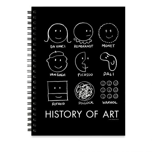 Le #sketchbook inspiré de l'illustration History of Art de Donald #Seitz - attention stock faible ! Prix initial 16,25 euros TTC vendu -40%, prix soldé 9,75 euros TTC