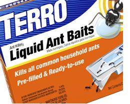 how to clean up terro liquid ant bait