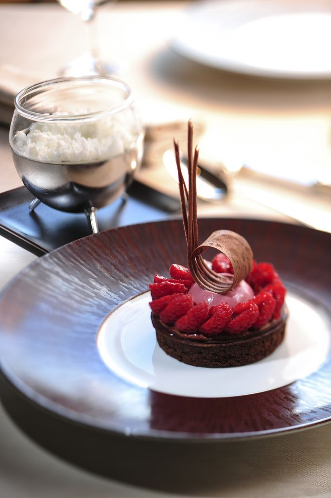 RASPBERRY-CHOCOLATE Dessert at SPOON by Alain Ducasse #sweet #chocolates #dessert