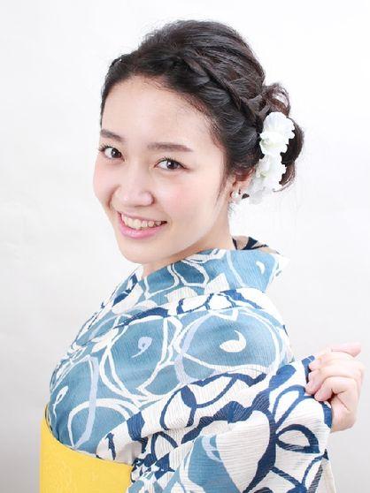 編み込みMIXのすっきり浴衣アレンジ | 千駄木・茗荷谷・白山の美容室 ROUGE 目白台店のヘアスタイル | Rasysa(らしさ)