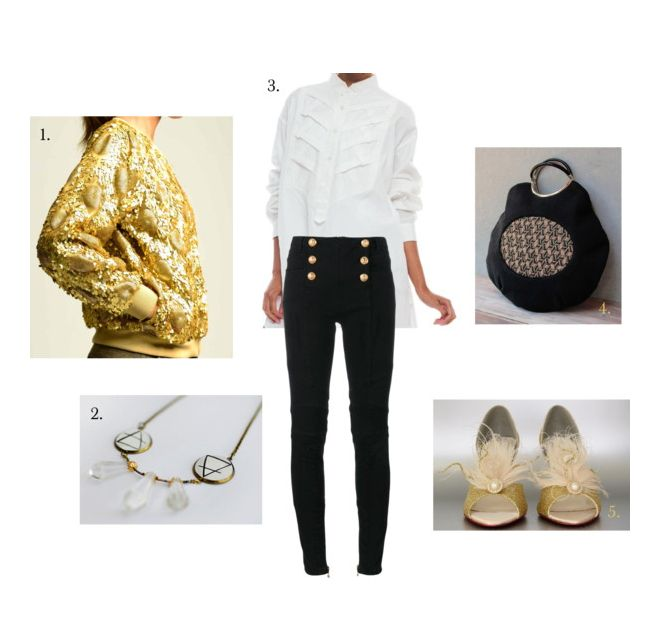 Black and Gold: A Christmas Party Look