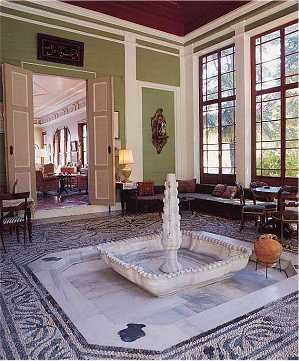 The sight and sound of splashing water added an element of congeniality to an enclosed space in traditional Turkish architecture and the well-off often had an indoor pool with fountains, such as this one in the Kibrislilar Yalisi, Kandilli, Istanbul