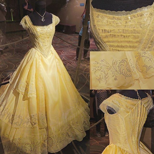 The yellow dress of the Beauty and the Beast live-action is so beautiful and the movie was amazing! <3