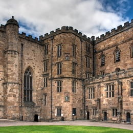 Durham Castle and Cathedral, UK Durham Cathedral was built in the late and  early centuries to house the relics of St Cuthbert (evangelizer of  Northumbria) ...
