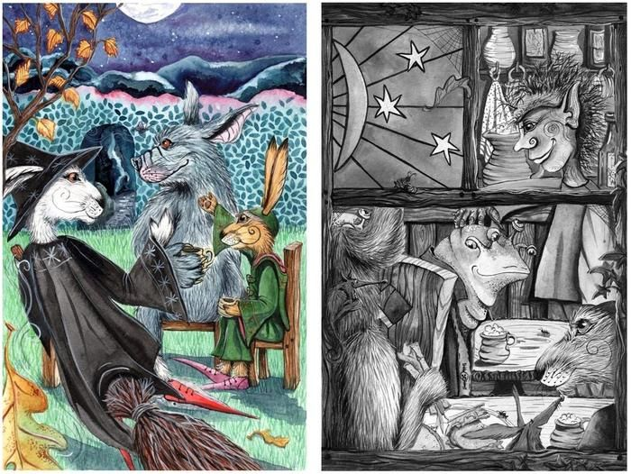 Matlock the Hare - The Puzzle of the Tillian Wand. by Phil and Jacqui Lovesey — TWO OF THE NEW ILLUSTRATIONS....