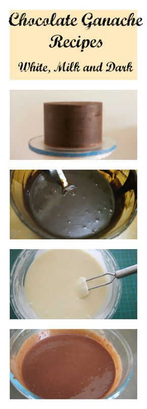 Chocolate Ganache Recipes for all Dark, Milk and white chocolate Ganache that you can use as a Filling or Frosting for dessert or Fondant decorated cakes