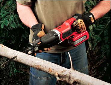 Trimming and Pruning Trees with a Li-Ion Cordless Reciprocating Saw
