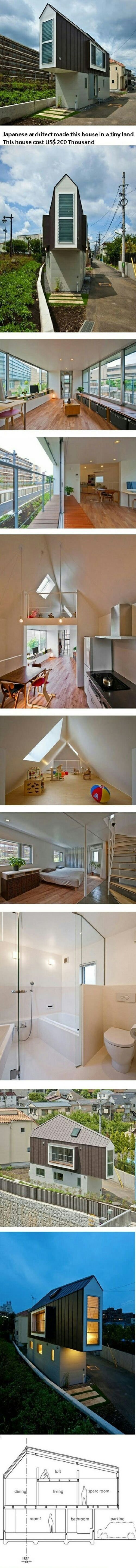 This house in Japan so cool. I want to live in it