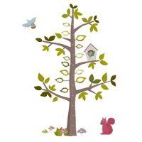 Kidzsupplies | Nouvelles Images muursticker meetlat boom met vogelhuisje | Webwinkel voor baby- en kinderkamer decoratie