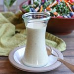 Salad lovers have I got a dressing for you I whipped up a vegan Paleoversion of buttermilk dressing and it turned out delightfully creamy and flavorful It tastes just like green goddess dressing and is marv on all your summer salads I showcased it on the salad recipe I posted this morning Heres where you can find the dressing httpwwwtheroastedrootnetveganbuttermilksaladdressing