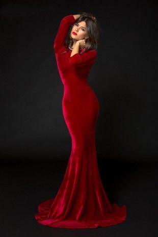 Rochie Krystal Bordo- www.zonia.ro