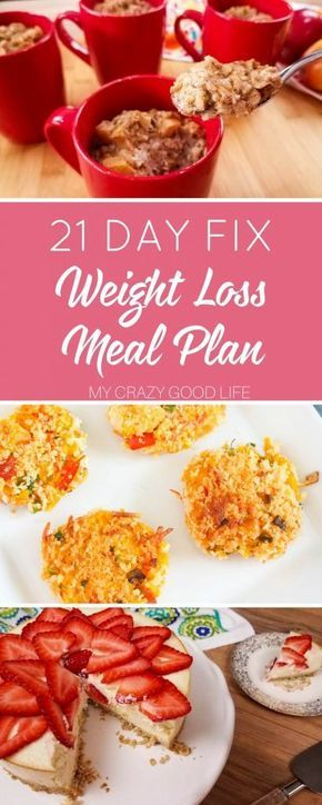 Losing weight can be hard, it's mostly about what you eat! This 21 Day Fix weight loss meal plan is organized and full of quick, easy, delicious recipes. via @bludlum