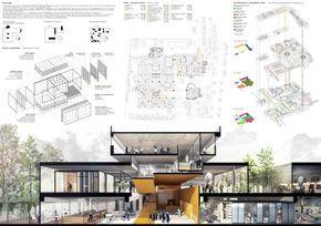 Algumas ideias de painéis de apresentação de projetos arquitetônicos