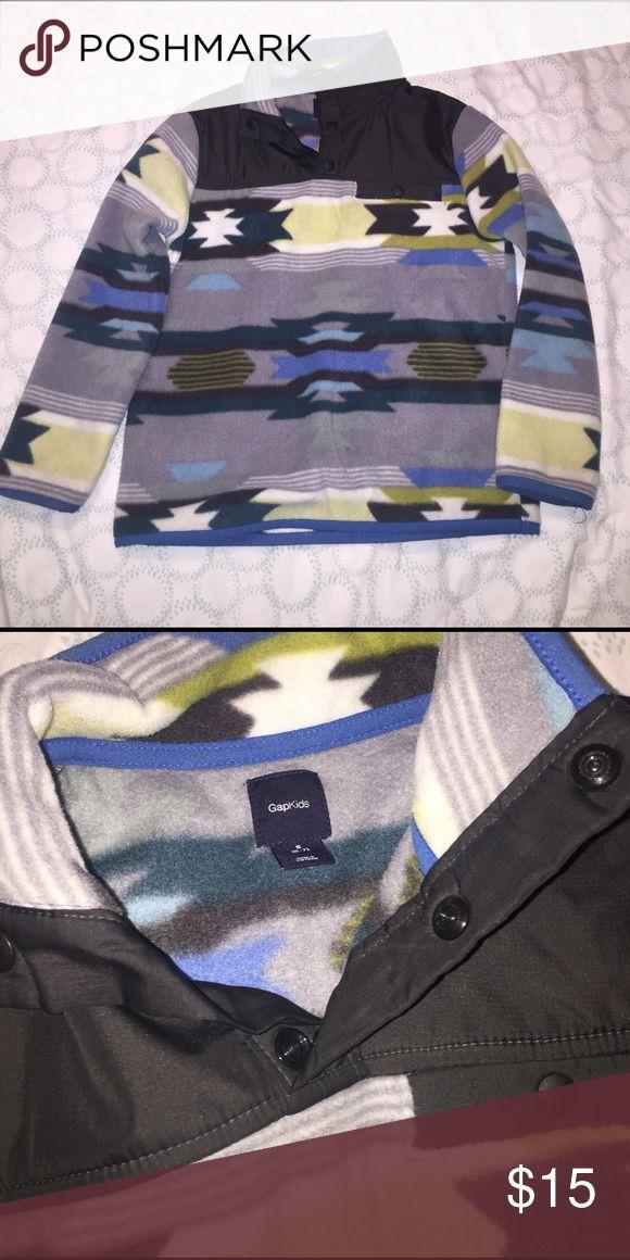 Boy Pullover Fleece Cool tribal Print pull over fleece -- 100% Polyester -- Gap Kids Worn -- Great Condition! GAP Shirts & Tops Sweatshirts & Hoodies