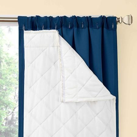 Thinsulate is one of the premiere thermal curtain linings. You simply attach it to the regular curtains and you have created curtains with thermal lining.