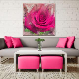 Shelia Golden 'Cerise Garden' Canvas Art | Overstock.com Shopping - The Best Deals on Canvas