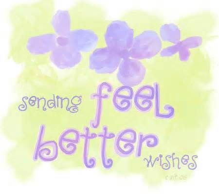 get well  feel better soon