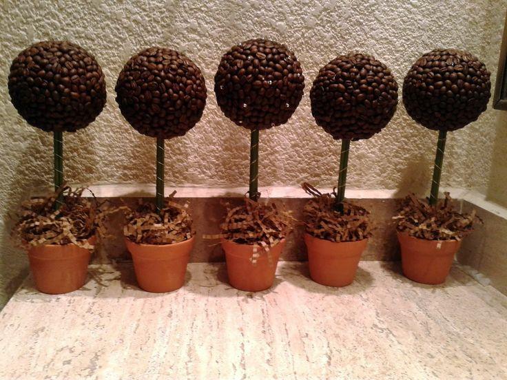 Coffee Bean Topiary Trees