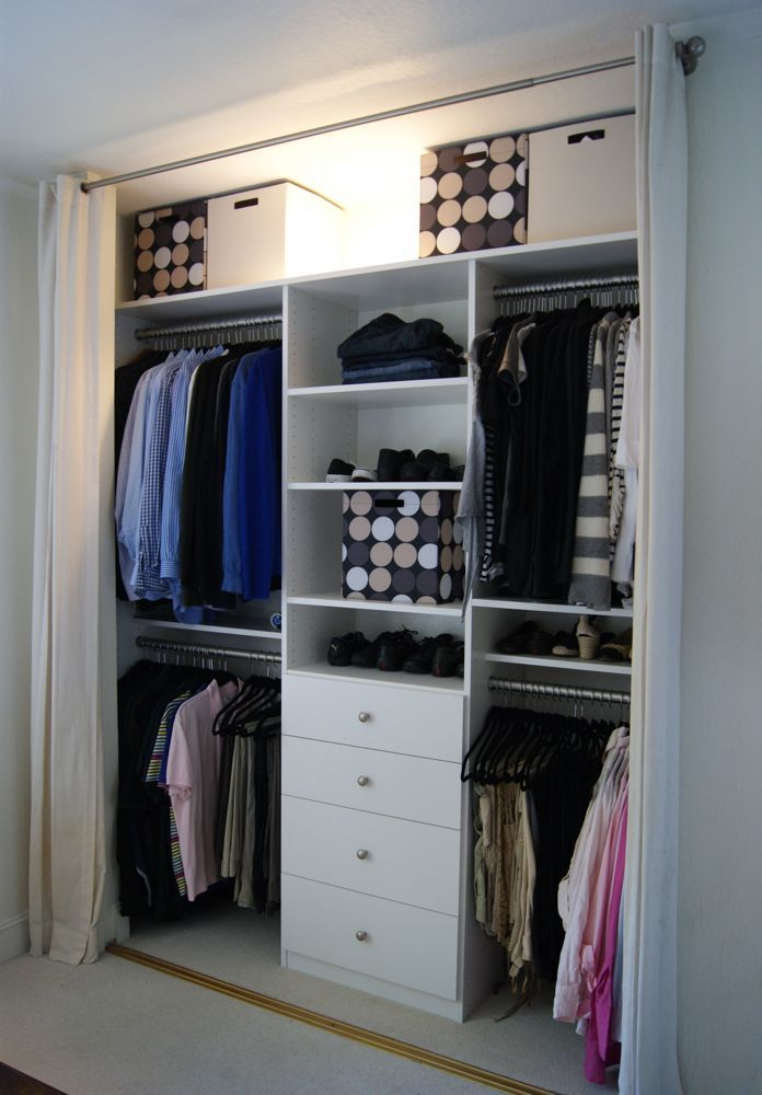 Custom built master closet, reorganized and decluttered by a professional organizer