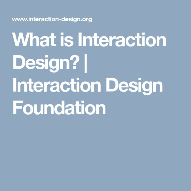 What is Interaction Design? | Interaction Design Foundation