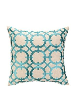 50% OFF Peking Handicraft Parisian Lights Pillow, Turquoise