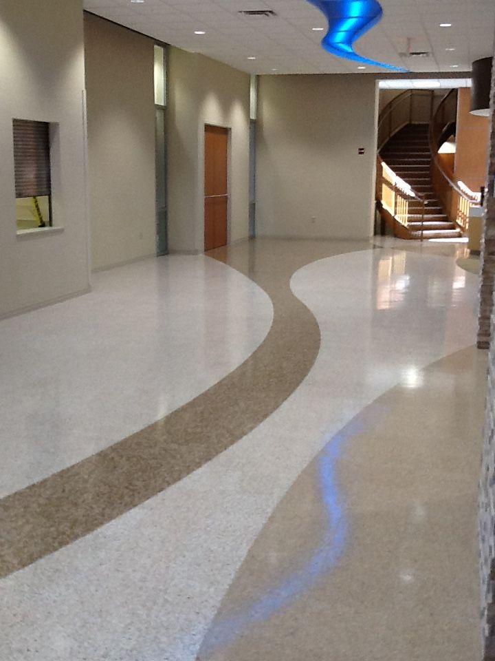 Bethesda Butler Hospital Water Jet Cut Floor Design Composite Tiles Custom Designs