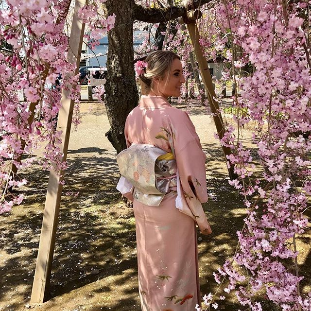 Just a little Cherry Blossom in my pink kimono