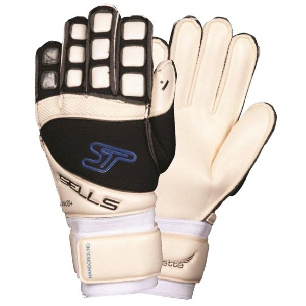 Sells Silhouette Hard Ground Soccer Goalkeeper Gloves - model SGP1070 White/Black/Royal/8: Palm of… #Sport #Football #Rugby #IceHockey