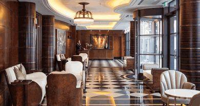 The Beaumont Hotel, London. Modern luxury/ Art Deco style