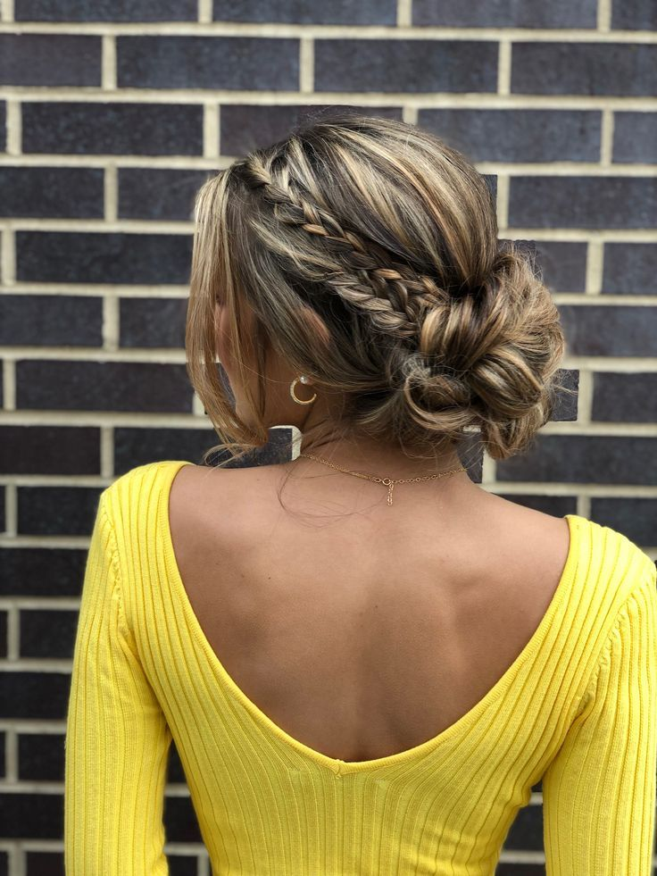 Upgrade Your Updo With A Boho Braid Hairstyle Makeup By Goldplaited Prom Hair Prom H Boho Braided Hairstyles Prom Hairstyles For Short Hair Boho Braids