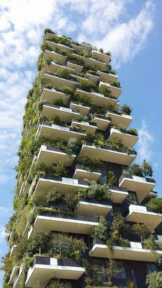 W6: Infrastructure       Bosco Verticale (Stefano Boeri, Milano)  If people want green space, they shouldn't always be forced to travel to the closest park or share with everyone else on the block. Inhabitants can still have their own green space and feel submerged in nature.