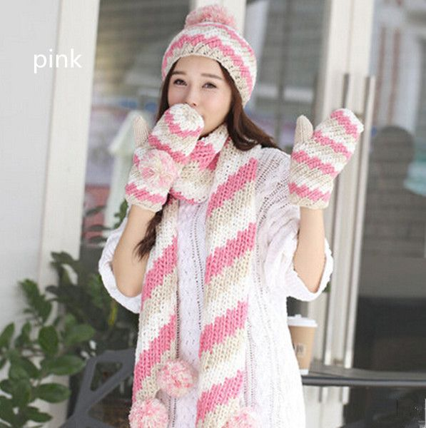 177 best womens hat scarf and glove set images on ...
